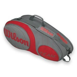 Wilson Team 6 Pack Bag Grey/Red