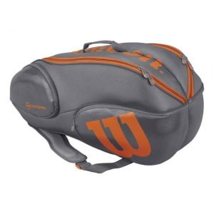Wilson Burn Grey/Orange 9 Pack Bag